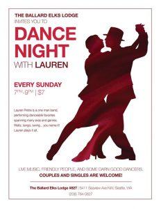 Dancing With Lauren @ Ballard Elks Lodge #827 | Seattle | WA | United States
