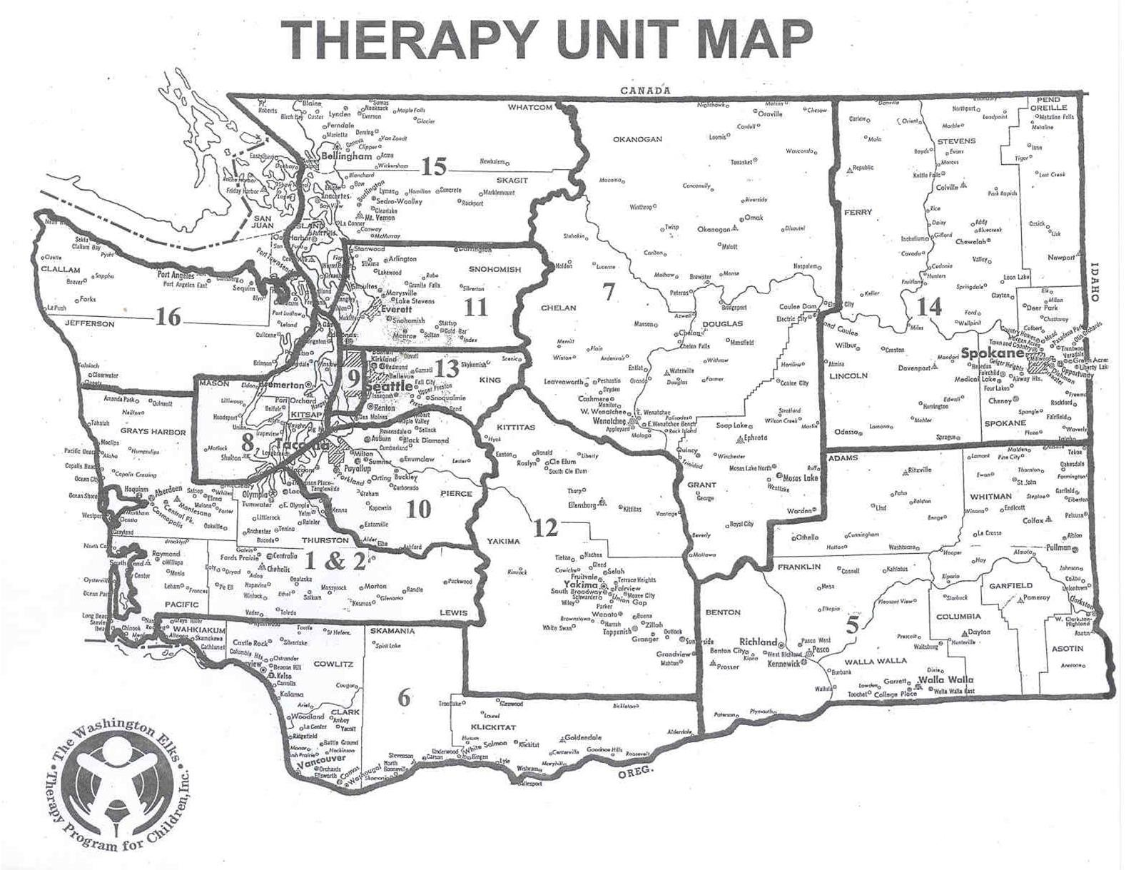 Therapy Unit Map
